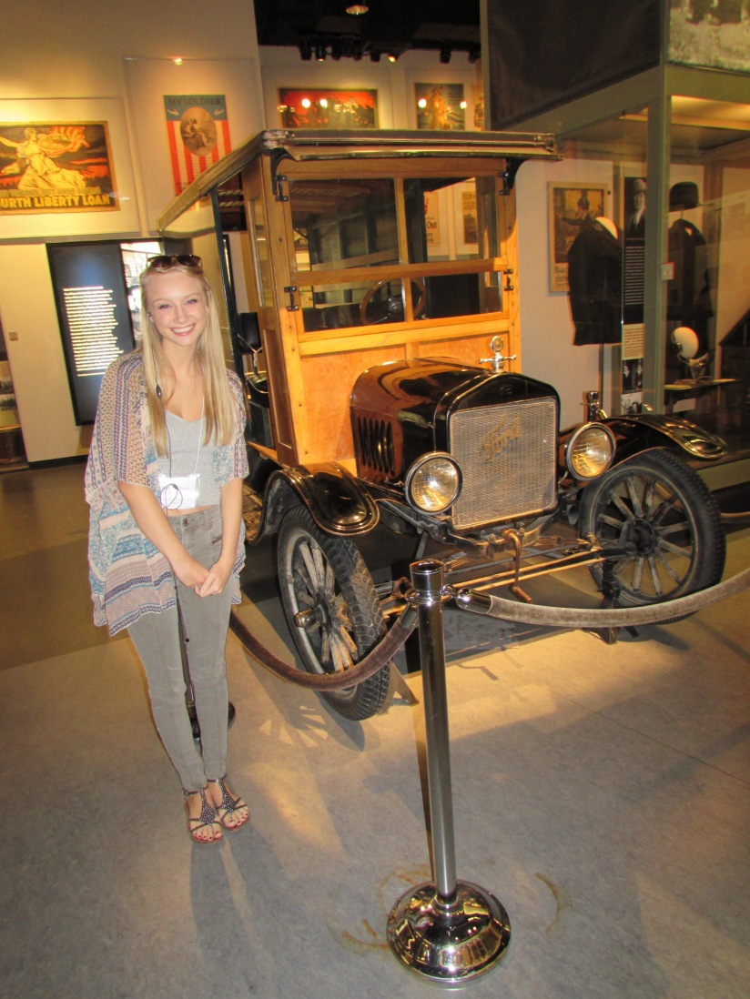 00000183  Madison  next  to  a  Model  T  Ford  Kansas  City  Missouri