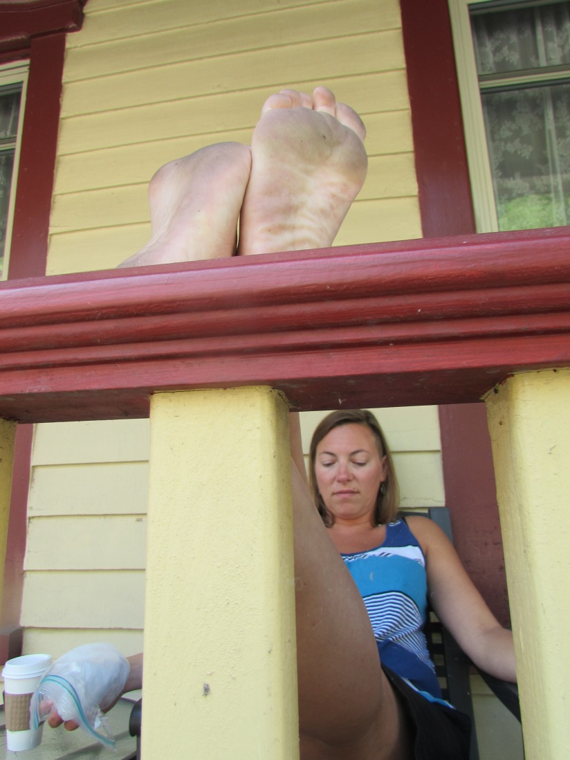Lady with Dirty Feet Jim Thorpe Pennsylvania