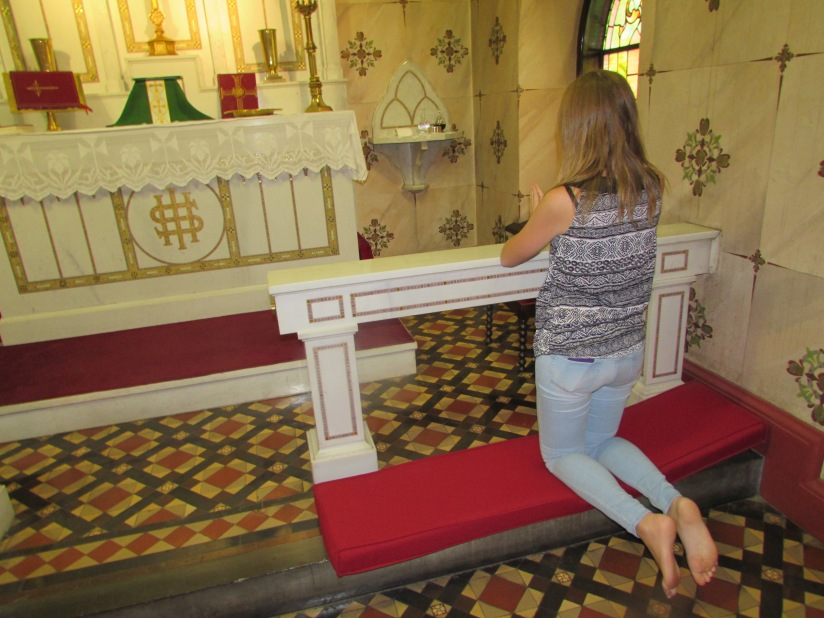 She Prays at the Altar Jim Thorpe Pennsylvania