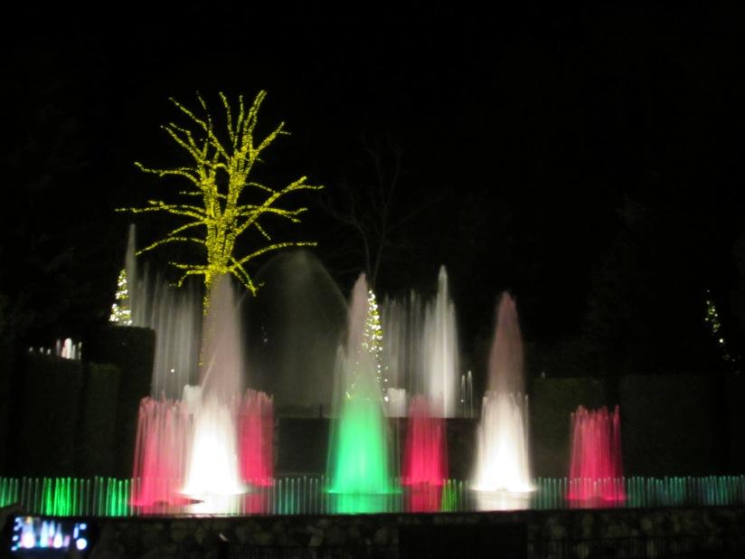 Christmas Fountain Longwood Gardens Kennett Square Pennsylvania