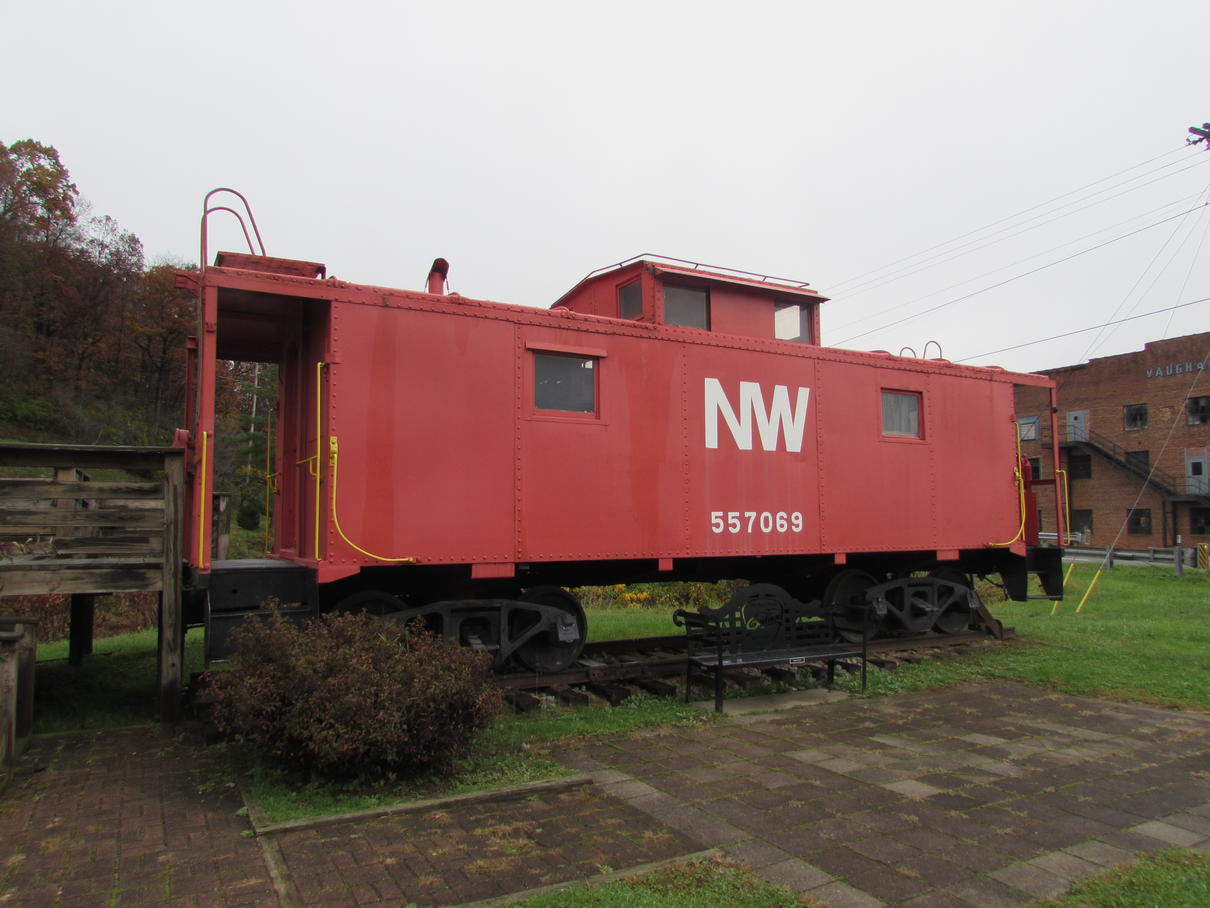 norfolk and western caboose galax virginia