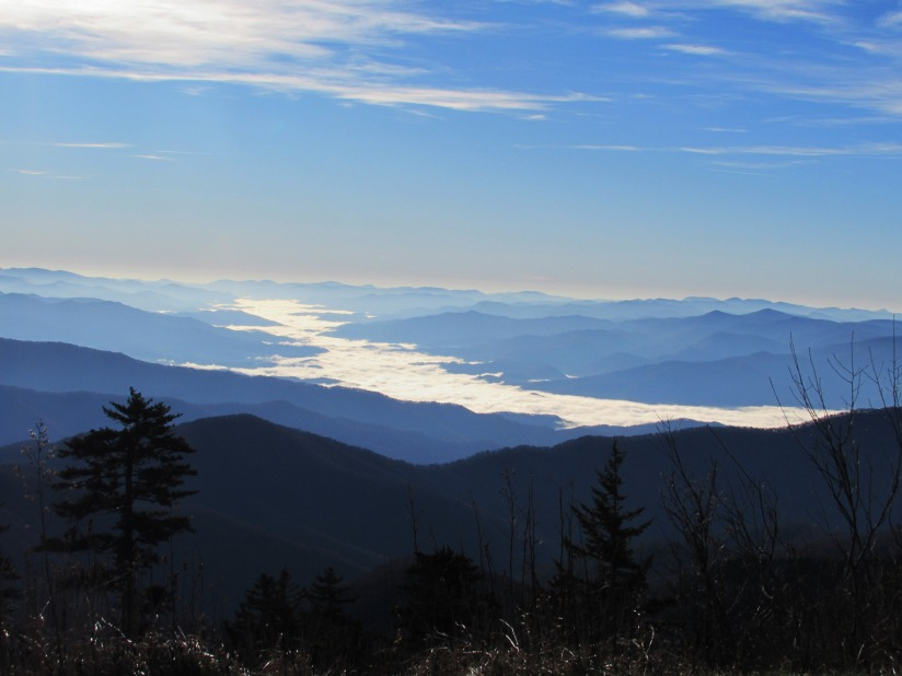 view from clingmans dome north carolina ii