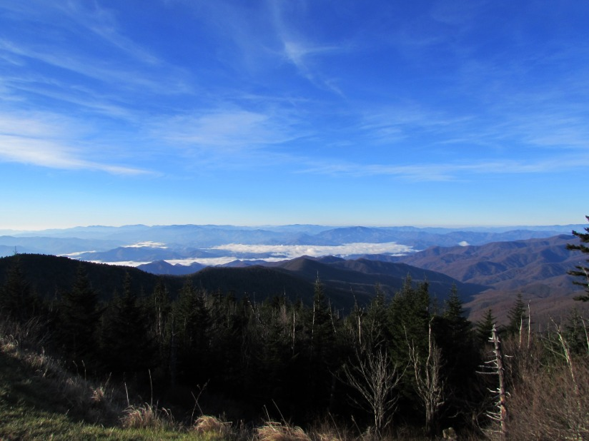 view from clingmans dome north carolina
