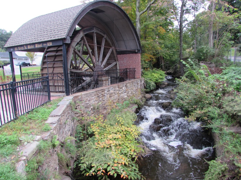 Waterwheel and Creek Plymouth Connecticut